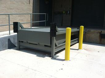 Loading Dock Equipment - Free Standing Pit Leveler with Dock Bumpers NJ NYC