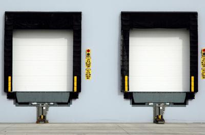 Loading Dock with Dock Leveler, Vehicle Restraint, Bumpers