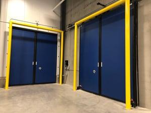 Rytec Turbo-Slide blue double 2 doors