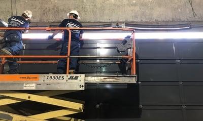 Technicians Repairing a Commercial Door in New Jersey