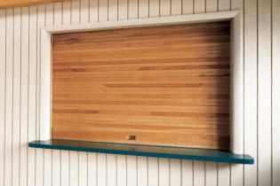 Wood Counter Roll Up Door 665 Model