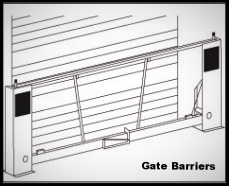 dock run off protection barrier gates, safety gates or barrier gates