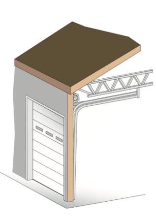 low_head_room_garage_sectional_door_torsion_springs_in_front_NYC_NJ