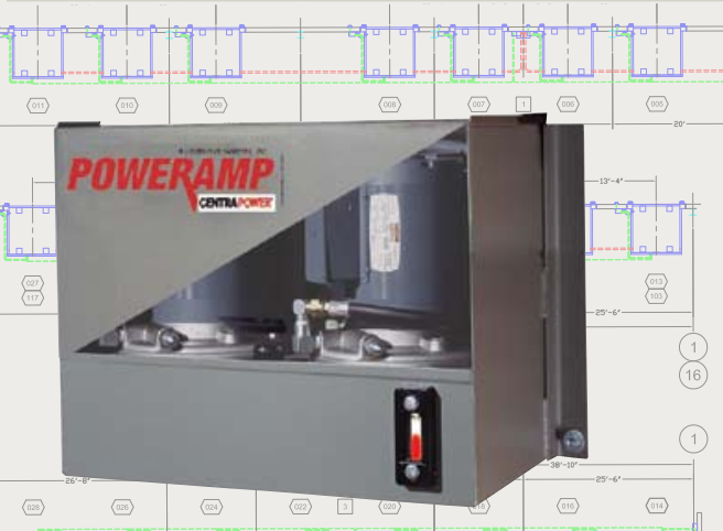 vertical storage leveler installation for cold storage facilities, CentraPower® System by Poweramp.