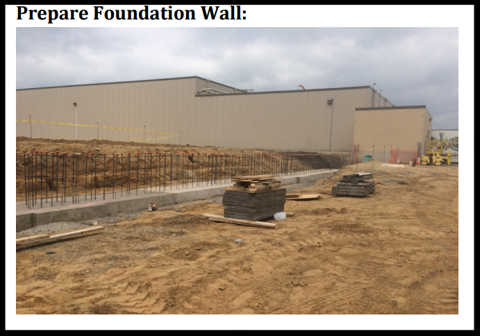 vertical storage leveler installation for cold storage facilities Installation; Prepare Foundation Wall.