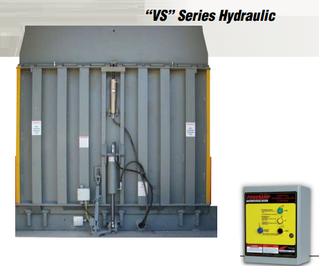 vertical storage leveler installation for cold storage facilities; Poweramp VS Series Hydraulic